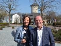schepen Kathleen Krekels en minister Philippe Muyters